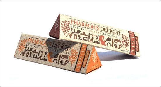 Pharaoh's Delight Chocolate Packaging Design