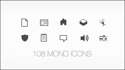 108 Mono Icons: Huge Set of Minimal Icons