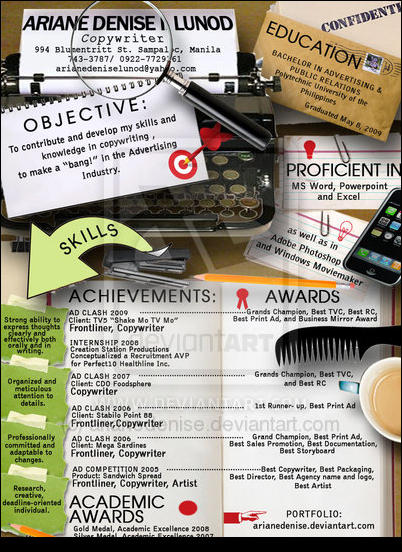Cluttered Desk Resume