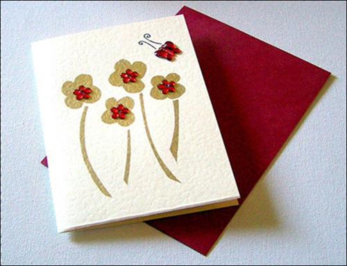 Handmade Flower card