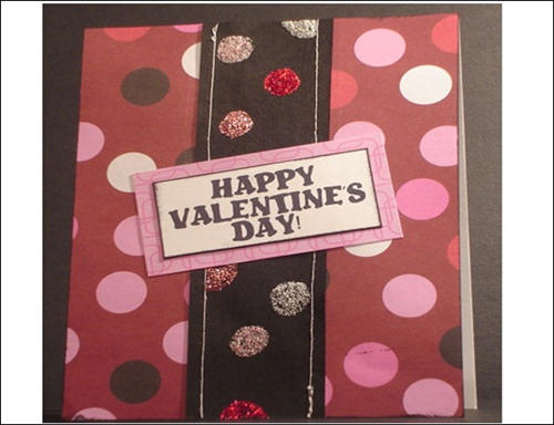 Polka Dot Valentine Card