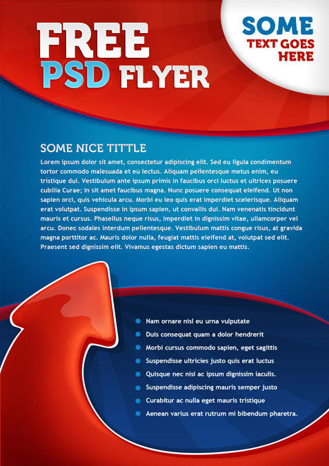 brochure template psd free - 35 attractive free flyer templates and designs for