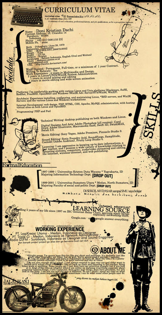 Vintage Resume