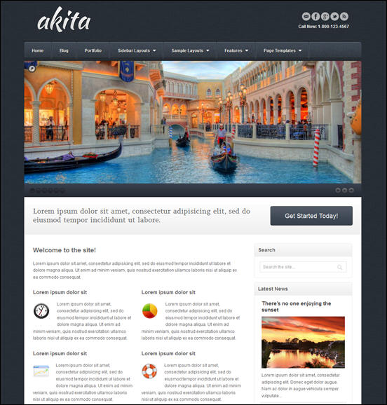 Akita Responsive WordPress Theme