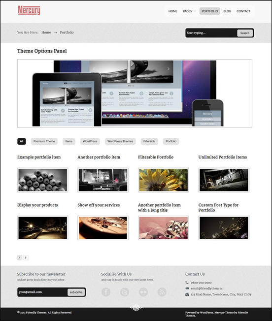 Mercury Business Portfolio Theme by FriendlyThemes