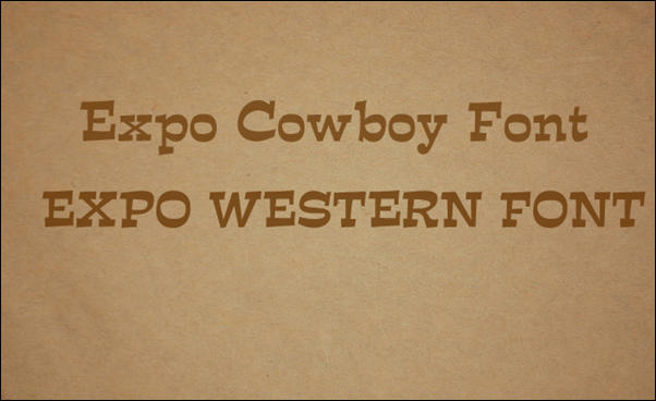 Expo Western Font