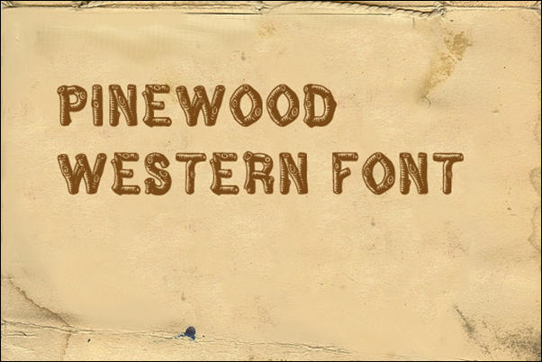Pinewood Western Font