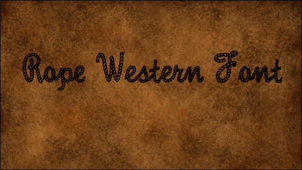 Rope Western Font