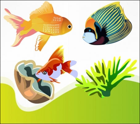 Free Animal Vector  Fishes