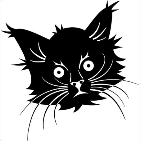 Black Cate Head Vector