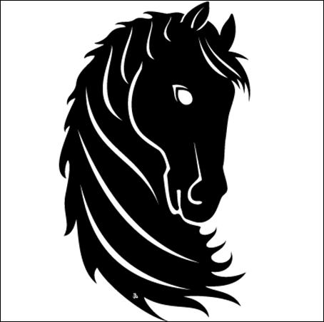 Black Horse Head Free Vector