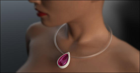 Perfume flacon as a jewellery by Alena Fajstova