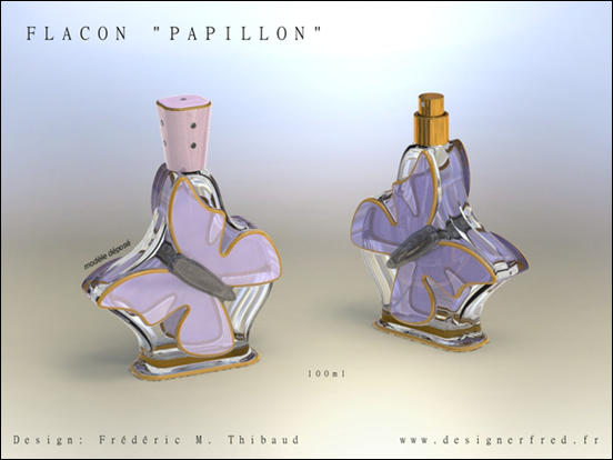 Perfume Bottle Design by Frederic Thibaud