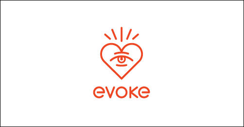 Evoke by SamDeMastrie heart shaped logos
