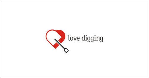 Love Digging by Pavlusha heart shaped logos