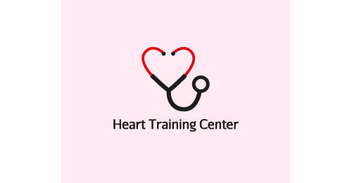 Heart Training Center by Different Perspective heart shaped logos