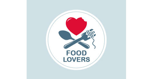 Food Lovers by Helga heart shaped logos