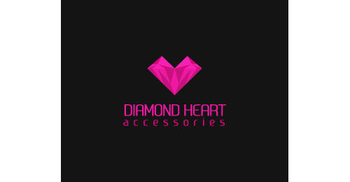 Diamond Heart heart shaped logos