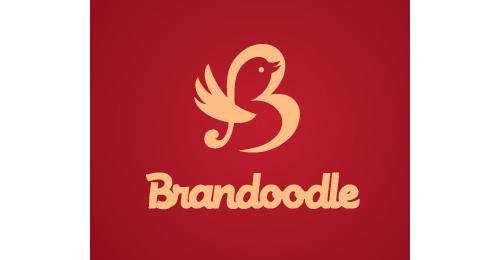 Brandoodle by prasad heart shaped logos