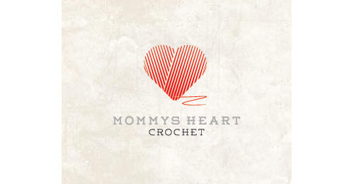 Mommy's Heart Crochet by nrcreative heart shaped logos