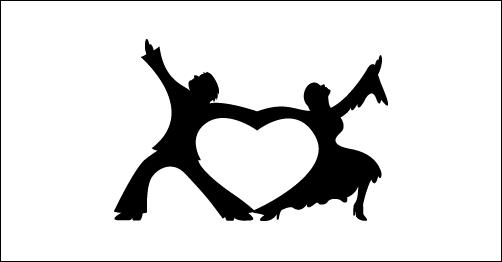 Dancing Heart by SuperDave4eva heart shaped logos