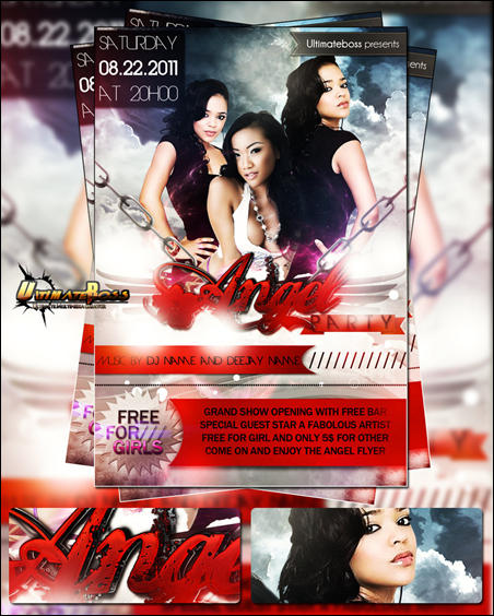 FREE PSD ANGEL PARTY FLYER