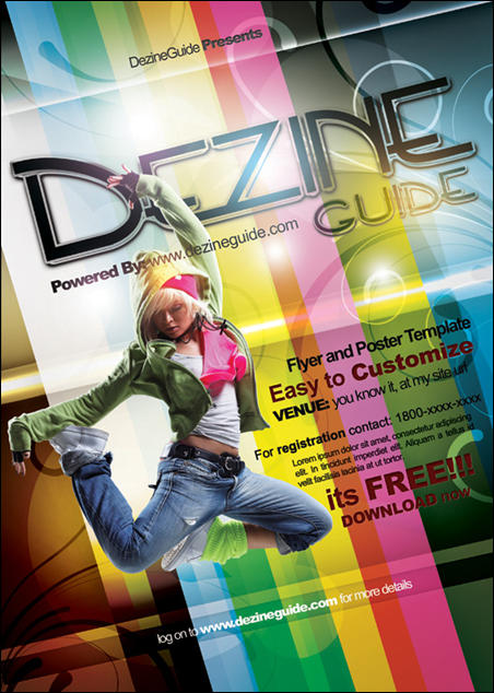 Free Dezine Flyer/Poster Template