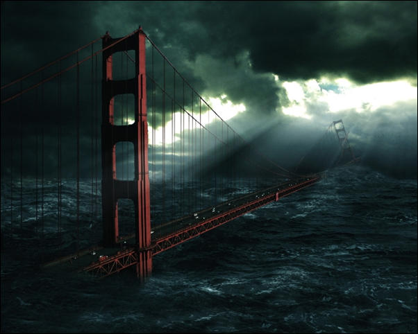 Golden Gate Bridge Doomsday Photo manipulation 