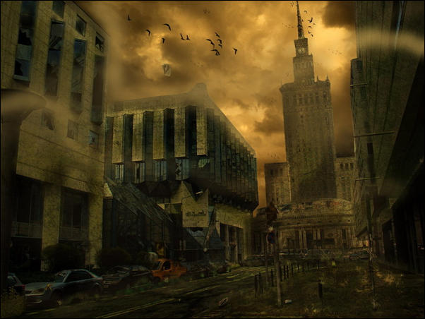 Post Apocalyptic City Doomsday Photo manipulation 