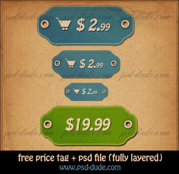 Price tags vector icons