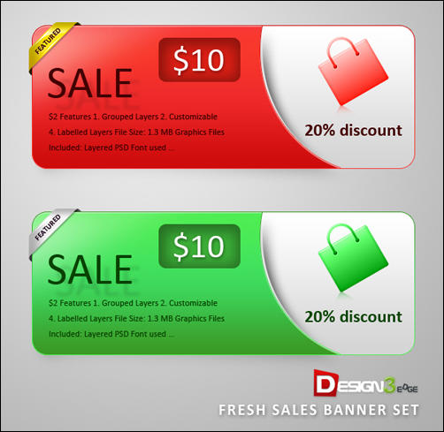 Fresh Sales Banner Set