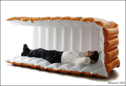 coolest office supplies. Nappak- Inflatable Sleeping Cube Coolest Office Supplies I