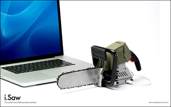 i.Saw – The world's first usb powered chainsaw