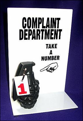 Complaint Department - Stress Relief Grenade