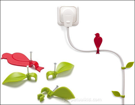 WIRE BLOOMS CABLE CLIPS