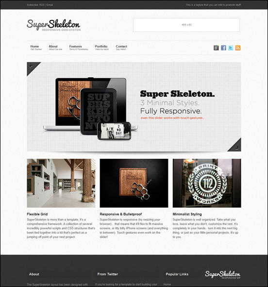 Super Skeleton - Responsive, Minimal, Beautiful WP