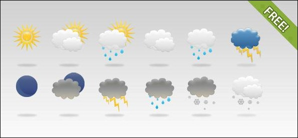 12-Free-Weather-Icons