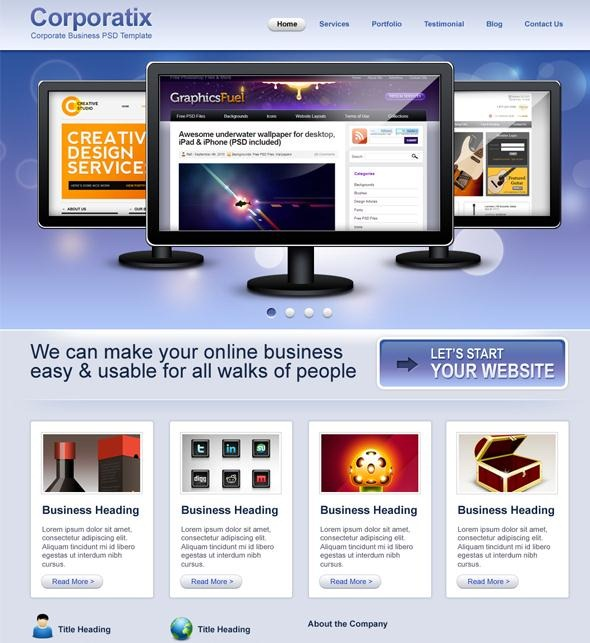 50 beautiful free and premium psd website templates and corporatrix flashek