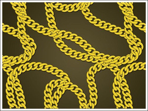 Create-a-gold-chain-pattern-in-illustrator