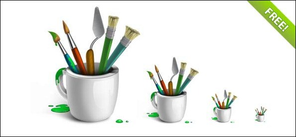 Designer-Brushes-Icon-Set