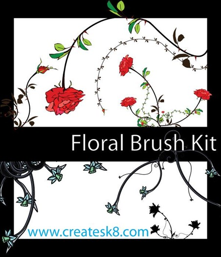 Floral-Brush-kit