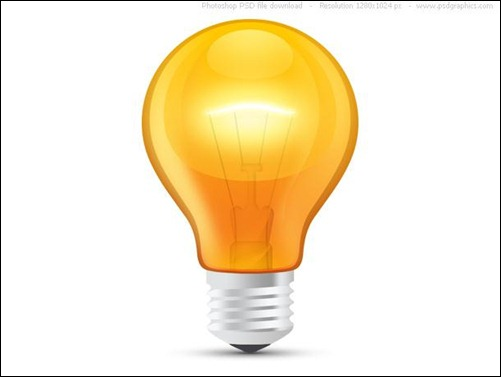 Glossy-Orange-Light-Bulb