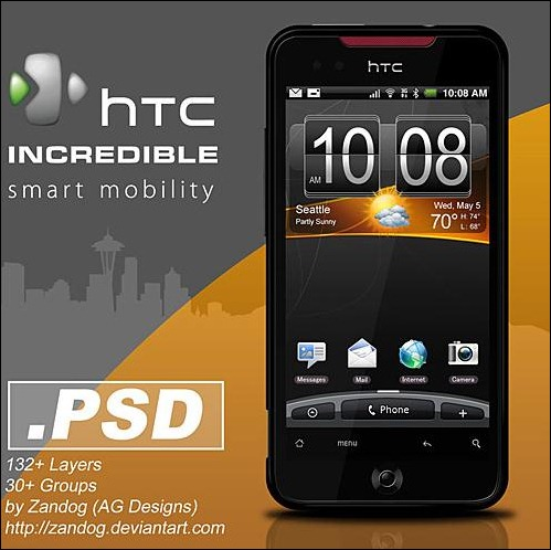 HTC-Incredible-PSD