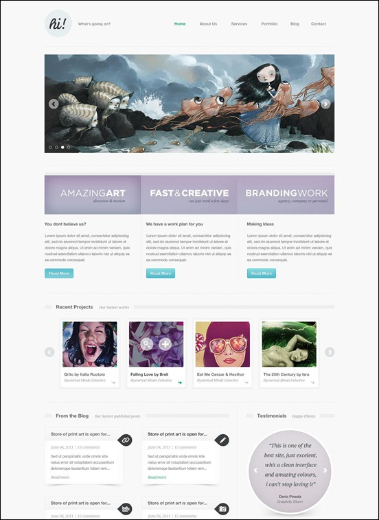 Hi-Creative-Portfolio-template