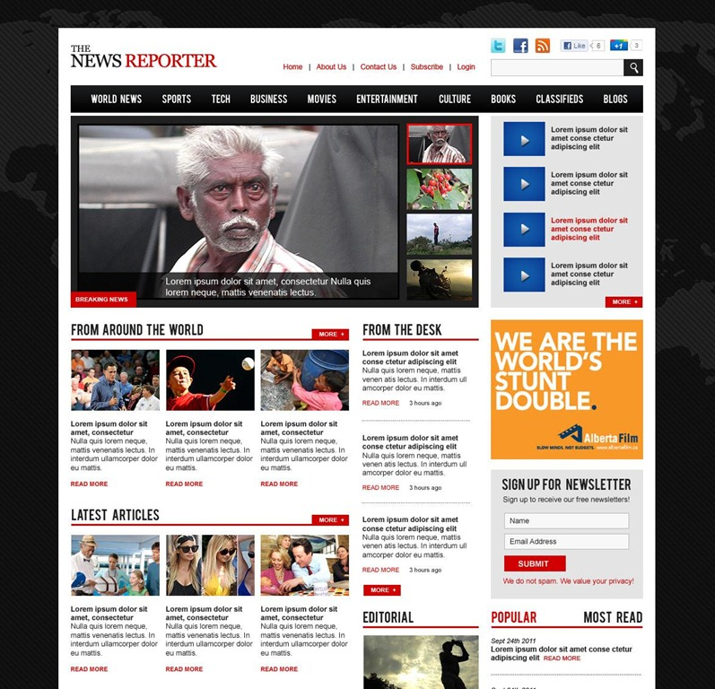 Web Magazine Template. online magazine templates for photo ...