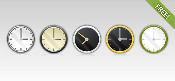 PSD-clock-Icons