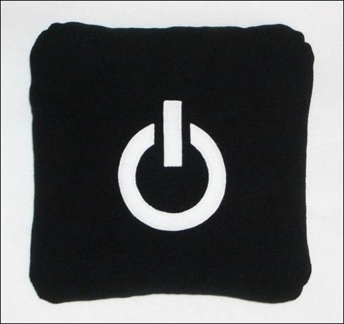 Power-Button-Pillow