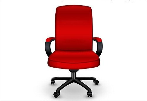 Red-Office-Chair-PSD-Icon