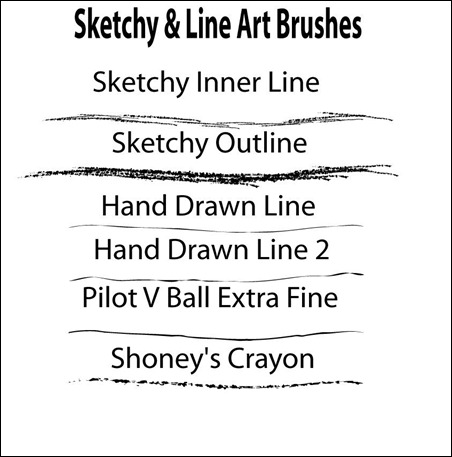 Sketchy-Line-Art-Brushes