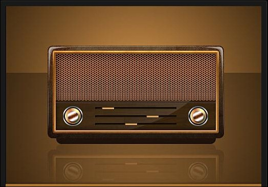 Vintage-Radio-Icon-PSD